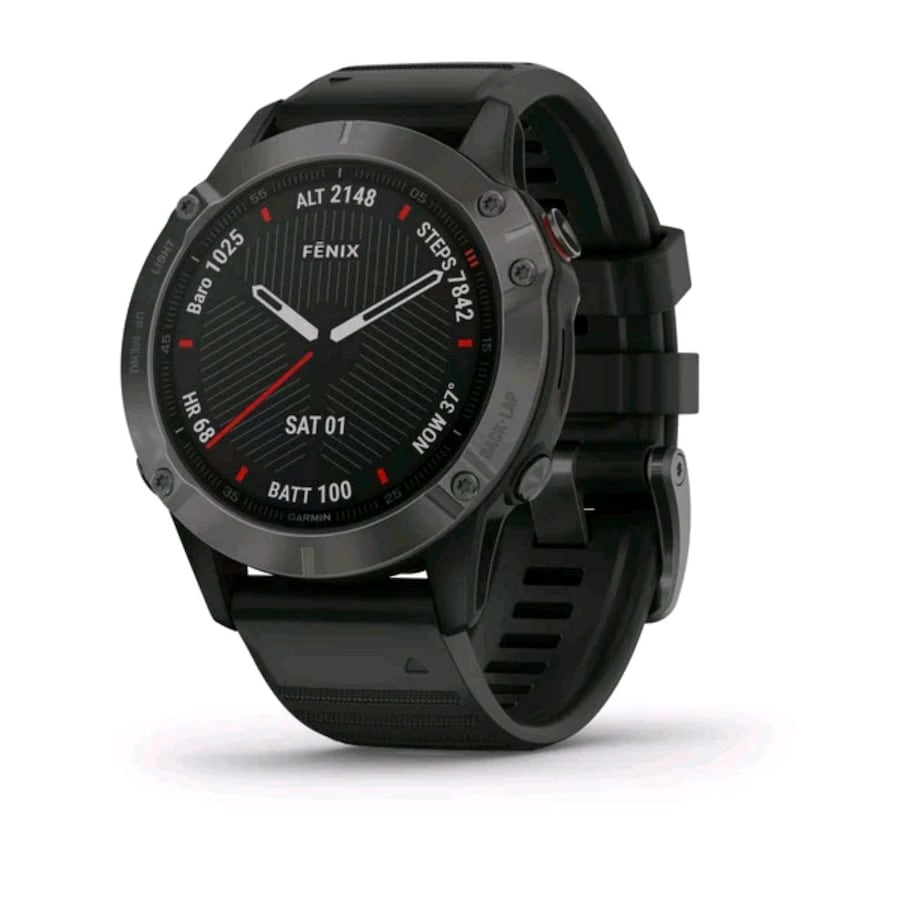Garmin fēnix® 6 Sapphire Edition - Carbon Gray DLC Bezel w/ Black Band