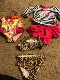 Baby girls swimsuits size 6 months