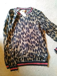 women's brown and black leopard print sweatshirt Calgary, T3A 2H4