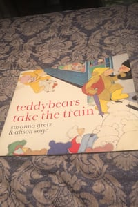 Teddy bears take the train