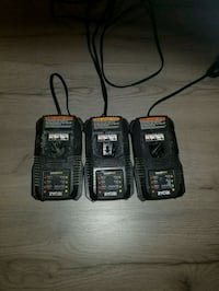 three black and yellow battery chargers Gaithersburg, 20879