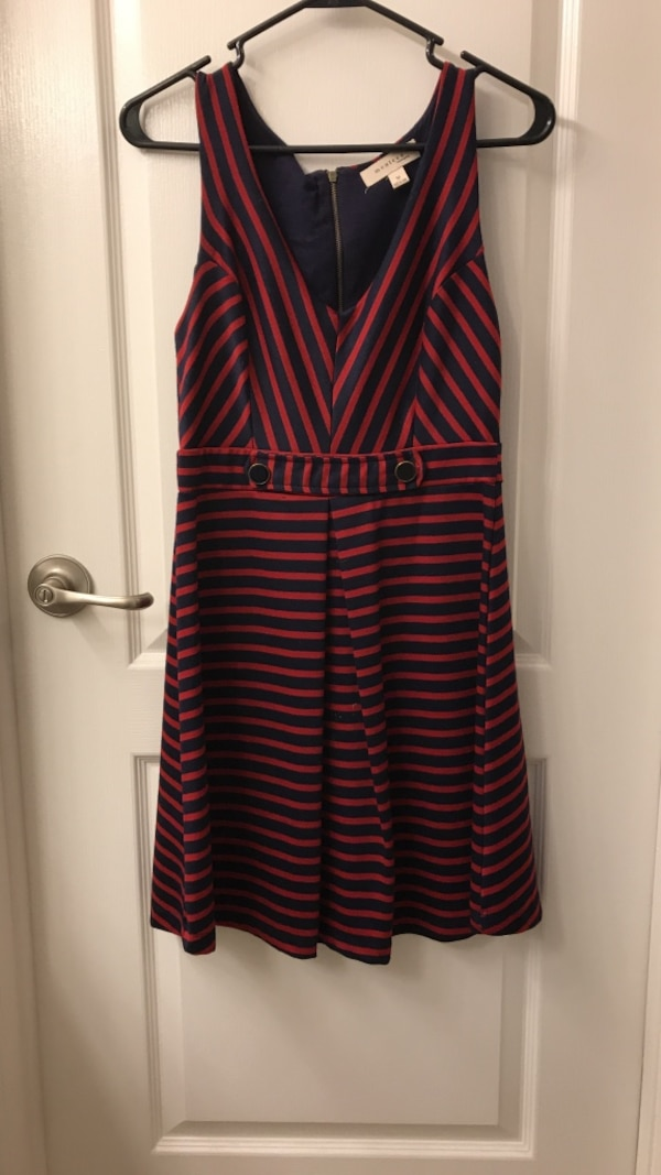 c29d81b83f0 Used Red and Navy Casual Dress. Gold accents for sale in Newport Beach -  letgo
