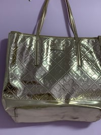 quilted gray leather tote bag 551 km