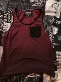 red and black crew neck shirt Abbotsford