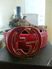 red and black Gucci leather belt Boston, 02101