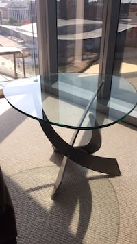 Glass top end table from Design Quest Grand Rapids, 49504