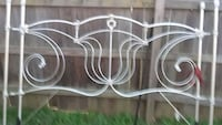 white metal bed headboard and footboard Chester, 23831