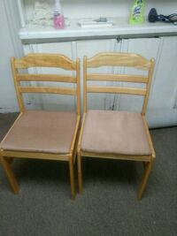 two brown wooden framed padded chairs Toronto, M1B 1H9
