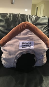 brown and white Home Sweet Home fleece doghouse Fairfax, 22030