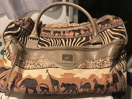Vintage safari carry on bag