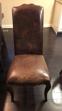 Pottery Barn Calais dining chairs in leather. Set of 6 sold as set; $500 each. Normally $720 Alexandria, 22301