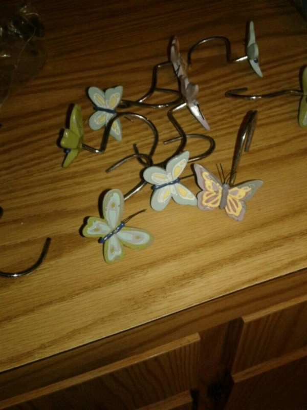 Used Butterfly Shower Curtain Hooks For Sale In Lutz