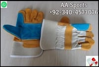 Pure leather double palm working laboure leather gloves pakistan quality