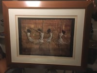 "47""x38"" with thick wood frame. Ladies dancing St Catharines, L2S 3J4"