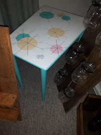 Retro Astro Print 1950's Side Table BARRIE