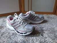 Adidas woman running shoes, size 5 London