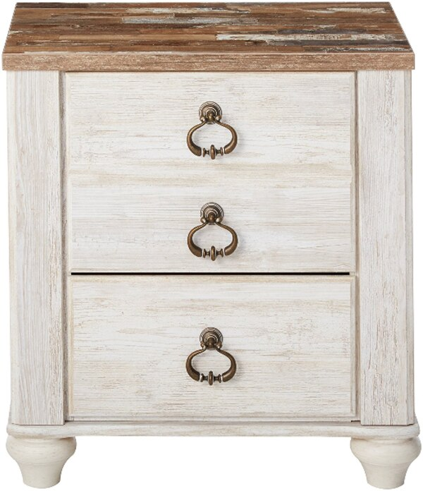 401f2eb8fc3 Used Ashley Furniture Rustic White Wash Willowton Nightstand Farmhouse  Style for sale in Arlington - letgo