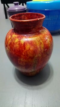Vintage ceramic rust coloured vase Calgary, T2W 2N6