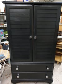 Black armoire with two drawers Baton Rouge