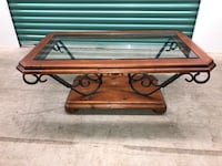 Iron & Glass Coffee Table Set w/ Small Table! FREE Delivery!  Miami, 33175