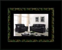 Black bonded sofa and loveseat Alexandria, 22305
