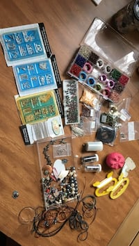 Assorted beads and accessories