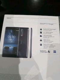 Brand New Nokia 8 - Android - Unlocked  Mississauga, L5B 2C9