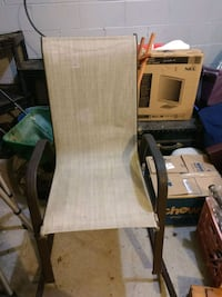 Outdoor rocking chair.