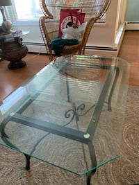 Wrought Iron Hand made with glass top