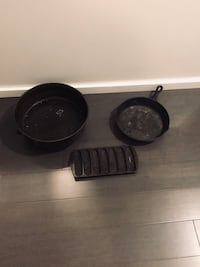 -3- Pieces of Vintage Cast Iron New Orleans, 70113