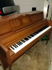 brown wooden upright piano with chair Atlanta, 30305
