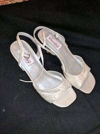 "Dyeable White Satin, 2.5"" Heels 41 km"