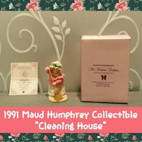 "VINTAGE 1991 MAUD HUMPHREY ""CLEANING HOUSE"""