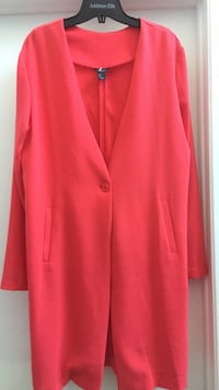 red button-up cardigan Gatineau, J8T 5N7