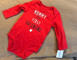NWT NEW Carter's Valentine's Day Onesie