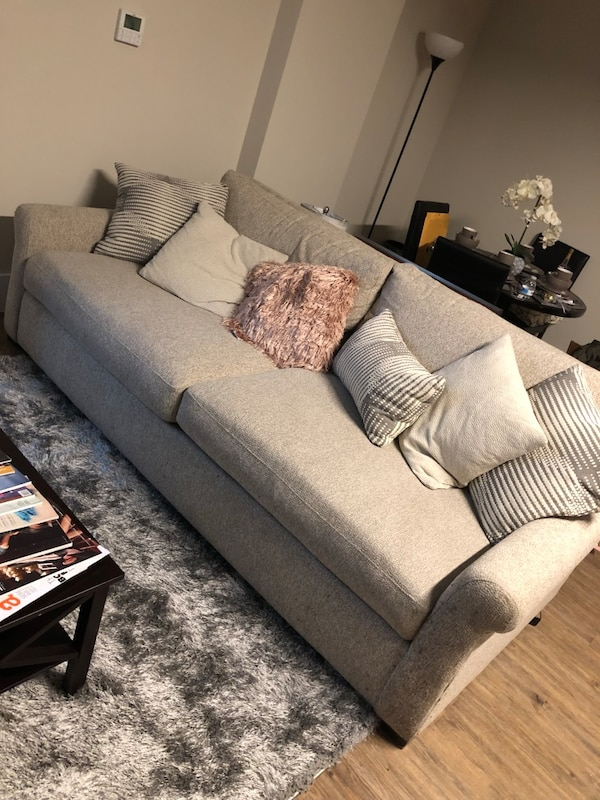 Lovely taupe couch
