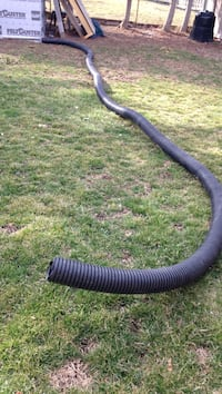 black corrugated hose