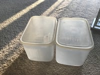two white plastic food containers Gaithersburg, 20878