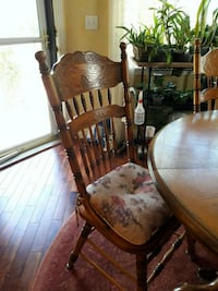Oak table and 4 chairs. Table has normal wear and  Lakewood, 80226