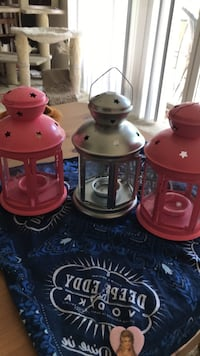 Three decorative indoor/outdoor candle holders Alexandria, 22304