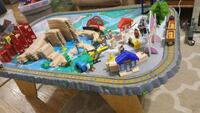 Kids wooden train and table set