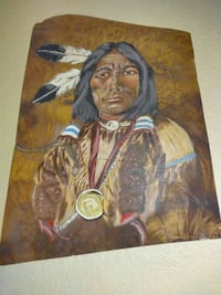 Native American painting from 1979 signed Las Vegas, 89102