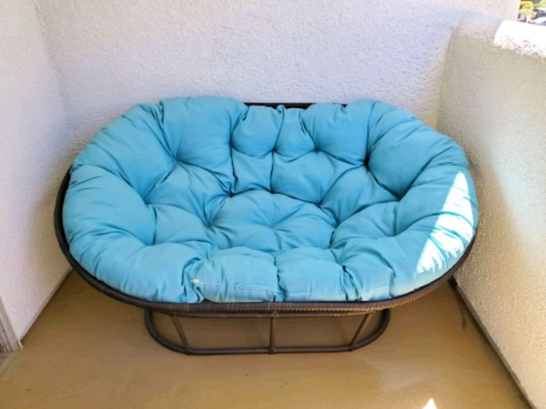 Marvelous Blue Double Papasan Pier1 Onthecornerstone Fun Painted Chair Ideas Images Onthecornerstoneorg