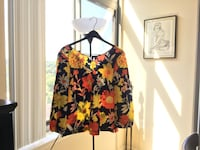women's black and red floral long sleeve blouse Rockville, 20852