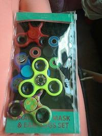 assorted-colors 3-blade fidget spinners pack