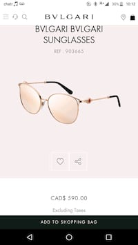 Bvlgari sunglasses  Langley City, V3A 1M2