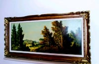Golden wooden framed painting of trees Mississauga, L5R 1R6