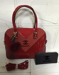 borsa rossa in pelle Chanel Thiene, 36016