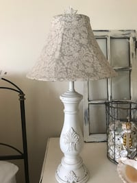 white and gray table lamp Chino Hills