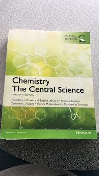 Chemistry  The Central Science Textbook Schaumburg, 60194